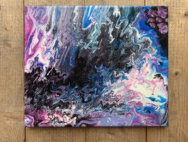 Acrylbild  Verlauf Nr. 010 auf Leinwand ca. 31  x 28  D. Black Einzelstück / Original