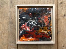 Acrylbild Feuer Nr. 005 auf Leinwand ca. 25 x 25  D. Black Einzelstück / Original