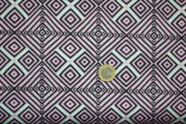 Quadratur - rosa/schwarz/jade 389