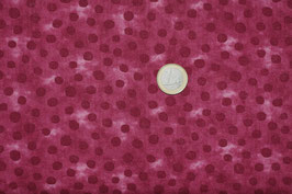 Dots dunkelrot/Batik rot 285