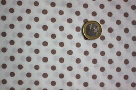 Polka-Dots braun-weiß 272