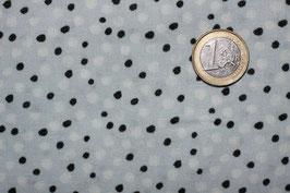 Dots schwarz/weiß auf hellblau 280