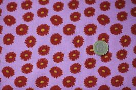 Rote Blumen auf rosa 330