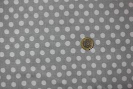Weiße Punkte auf Silbergrau 269