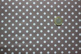 Polka-Dots braun mit weißen Punkten 274
