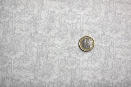 Blumenwiese grau/weiß 341