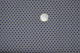 Mini-Polka-Dots braun mit blauen Punkten 273