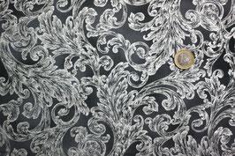 Grau mit silberglitzernden Ornamenten 321