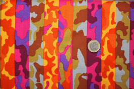 Camouflage rot/orange/lila/braun/rauchblau 402
