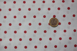 Polka-Dots rot auf weiß 277
