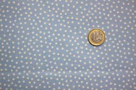 Mini-Dots weiß-babyblau 278