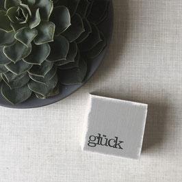 "Mini  Textplatte ""glück"""