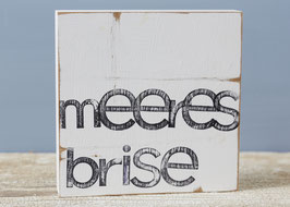 "Textplatte ""meeresbrise"" 15x15cm"