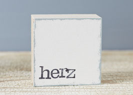"Mini  Textplatte ""herz"""
