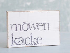 """Textplatte """"möwenkacke"""" 10x15cm"""