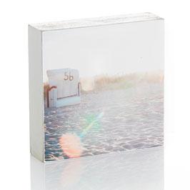 "Fotoplatte ""Strandkorb + Sonne"""