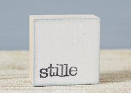 """Mini  Textplatte """"stille"""""""