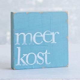 """Textplatte türkis """"meerkost"""""""