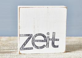 "Textplatte ""zeit"""