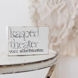"""Textplatte """"kasperltheater"""" 10x15cm"""