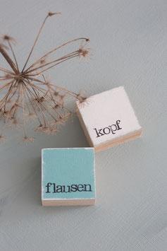 "Mini  Textplatte ""flausen + kopf"""