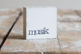 "Mini  Textplatte ""musik"""