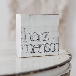 "Textplatte ""herzmensch"" 10x10cm"