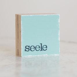 """Mini  Textplatte """"seele"""""""