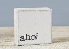 "Mini  Textplatte ""ahoi"""