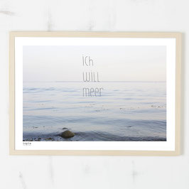 "Poster ""ich will meer"""