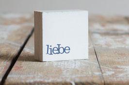 "Mini  Textplatte ""liebe"""