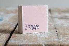 """Mini  Textplatte """"yoga"""""""