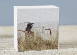 """Mini  Fotoplatte """"strandkörbe"""""""