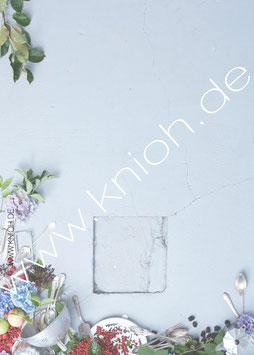 """Notizblock """"grau"""" mit Grusskarte von Knioh"""