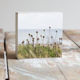 """Fotoplatte """"Blumen am Meer"""""""