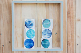 "3 Mini  Monde im Set ""blau"""