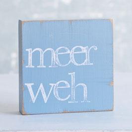 "Textplatte taubenblau ""meerweh"""