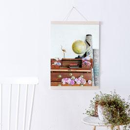 Artprint Hortensienschrank