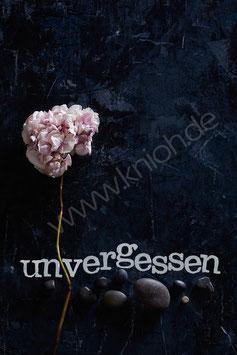 """Postkarte """"unvergessen"""""""