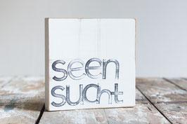 "Textplatte ""seensucht"" 15x15cm"