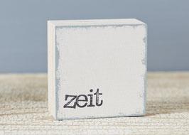 "Mini  Textplatte ""zeit"""
