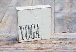 """Textplatte """"yoga"""""""