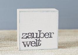 """Mini  Textplatte """"zauberwelt"""""""