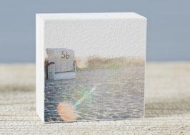 "Mini  Fotoplatte ""strandkorb sonnenfleck"""