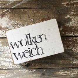 """Textplatte """"wolkenweich"""" 10x15cm"""