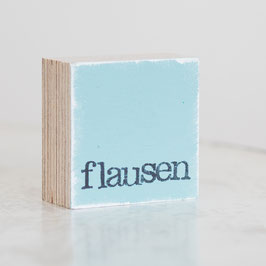 "Mini  Textplatte ""flausen"""