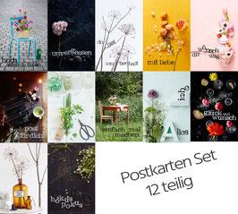 12 teiliges Postkarten Set gemischt von Knioh