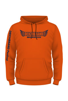 2019 Herren Line Up Hoodie Orange