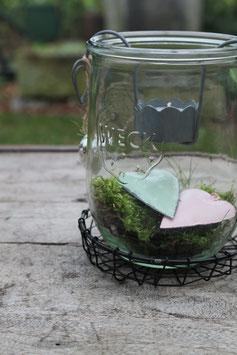 Teelichthalter zum Einhänger in Grau