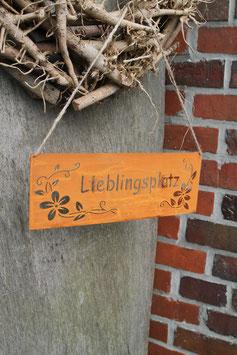 """Schild """"Lieblingsplatz"""""""